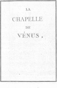 S.4.01 La chapelle de Vénus, 1772, Title Page