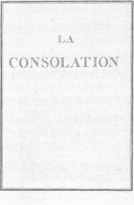 S.4.02 La consolation, 1772, Title page