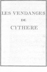 S.4.03 Les vendanges de Cythere, 1772, Title page