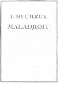 S.4.04 L' heureux maladroit, 1772, Title page
