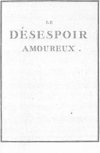 S.4.05 Le désespoir amoureux, 1772, Title page