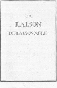 S.4.06 La raison deraisonable, 1772, Title page