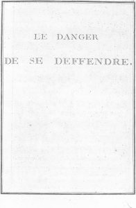 S.4.07 Le danger de se deffendre, 1772, Title Page