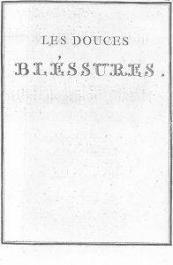 S.4.08 Les douces bléssures, 1772, Title page