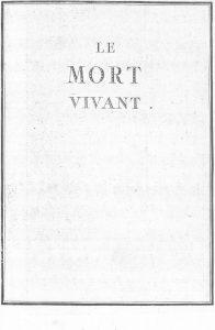 S.4.09 Le mort vivant, 1772, Title page