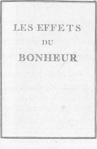 S.4.10 Les effets du bonheur, 1772, Title page