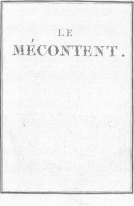 S.4.11 Le mécontent, 1772, Title page