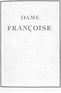 S.4.12 Dame françoise, 1772, Image