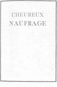 S.4.13 L'heureux naufrage, 1772, Title page