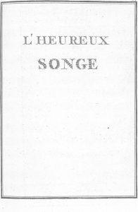 S.4.15 L'heureux songe, 1772, Title page