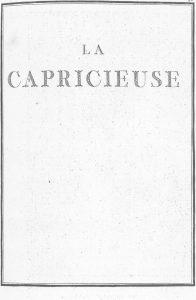 S.4.16 La capricieuse, 1772, Title page