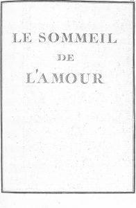 S.4.17 Le sommeil de l'amour, 1772, Title page