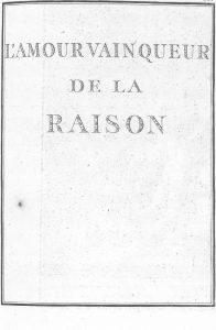 S.4.18 L'amour vain queur de la raison, 1772, Title page