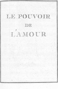 S.4.19 Le pouvoir de l'amour, 1772, Title page