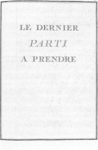 S.4.20 Le dernier parti a prendre, 1772, Title page