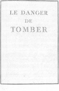 S.4.21 Le danger de tomber, 1772, Title page
