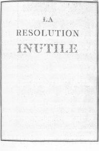 S.4.22 La resolution inutile, 1772, Title page