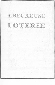 S.4.24 L'heureuse loterie, 1772, Title page