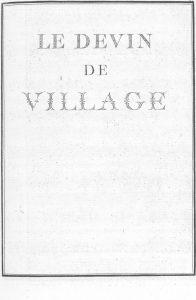 S.4.25 Le devin de village, 1772, Title page
